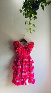 Bust 76 cm: GIRLS DRESS SKIRT Vtg Authentic Flamenco Gypsy Frida Feria Riding