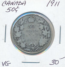 CANADA 50 CENTS 1911 - VG