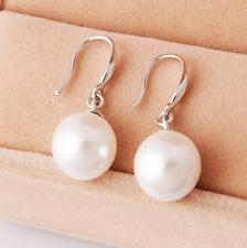 925 Sterling Silver Pearl Drop Dangle Stud Hook Earrings Womens Jewellery Gift