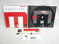 PS1 NAMCO MUSEUM VOL.3 with SPINE * Playstation Japan Video Game p1