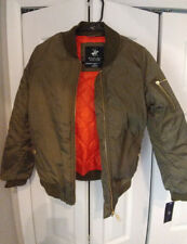 New, Girls, Youth, Beverly Hills Polo Club, Flight Jacket, Olive, Size L (14)