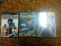 Sony PlayStation 2 PS2 Prince of Persia Trilogy Sands of Time Two Thrones LOT