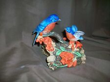 Viintage 1986 Enesco Porcelain Bluebirds Music Box