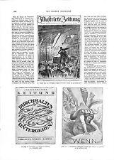 WWI Allemagne Journal Newspaper Germany Illustrirte Zeitung Leipzig ILLUSTRATION