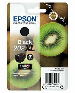 Genuine Epson 202XL Black Ink Cartridge T02G140 for XP-6000 6005 6100 6105