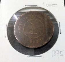 STRAITS SETTLEMENTS  QUEEN VICTORIA  1 cent  1875
