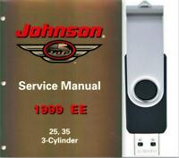1999 Johnson EE 25 & 35 3 Cylinder Service Repair Manual On USB Drive