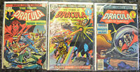 TOMB OF DRACULA (3-Book) Comic LOT #35, 44, 66 (1972-1976 | Marvel) Bronze Age