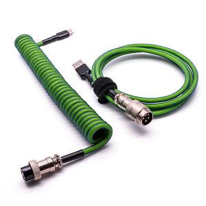 Custom Coiled Type-C Cable Split For GMK Mecha-01 Ducky Keyboard Aviator GX16 UK
