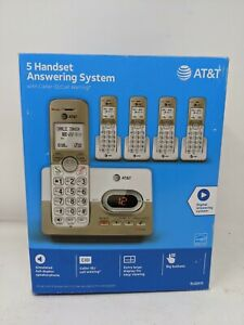 AT&T EL52513 5-Handset Expandable Cordless Phone with Answering System & XL B...