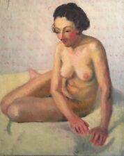 Superb Nude French Impressionist 1930's Oil Painting - The Artists Model