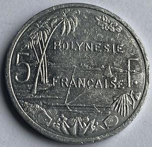French Polynesia 5 Francs 2016 (KM#12)