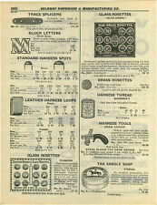 1932 PAPER AD Diamond Blue Grass Glass Rosettes Belknap Saddle