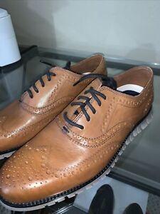 Cole Haan Zerogrand Burnished British Tan Leather Wingtips 8.5