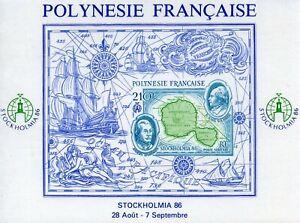 STAMP / TIMBRE POLYNESIE BLOC N° 12 **  STOCKHOLMIA 86 // NON DNETELE