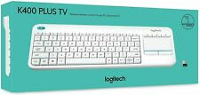 LOGITECH WIRELESS TOUCH KEYBOARD K400 PLUS keyboard for PC connected TVs - WHITE