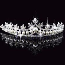 Rhinestone Pearl Tiara Crystal Hair Accessories Crown Wedding Bridal Headband