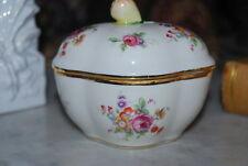 Wonderful Richard Ginori Capodimonte Fruit And Flower Decorated Porcelain Box #1