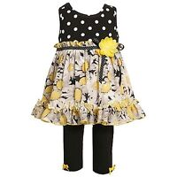 Bonnie Baby Daisy 2pc Dress Leggings Outfit Girls 12 Months New