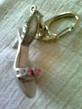 PEWTER & CRYSTAL WOMENS SHOE KEY RING ~ 7.99P NO RESERVE ~ UNWANTED