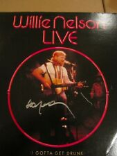 Willie Nelson signed Live Vinyl in person w/proof