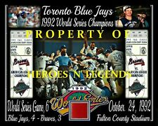 Toronto Blue Jays 1992 World Series 8x10 Photo Fulton County Stadium Seat-Ticket