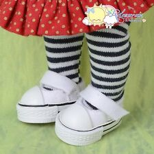 Doll Shoes Mary Jane Sneakers White for Lati Yellow Pukifee BJD Blythe Pullip