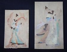 2 anciennes peinture miniatures perse qajar two old persian painting