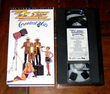 VHS TAPE: ZZ Top - Greatest Hits: The Video Collection 1992 Legs Sharp Dressed