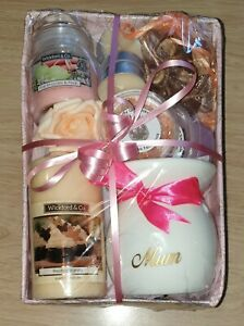 LADIES MUM PAMPER HAMPER MOTHERS DAY BIRTHDAY CANDLE HOME SCENTS BURNER FOR HER