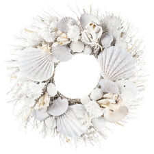Seashell Branch Wreath for Home Office Beautiful Crate Nautical Inspired New