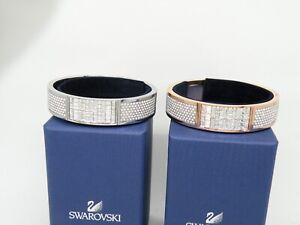 "Authentic Swarovski ""ETHIC"" Crystal Bangle Bracelet Rhodium or Rose New in Box"