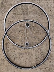"""Pair of Shimano Deore DX M650 hubs on 26"""" Specialized rims Wheelset MTB retro"""
