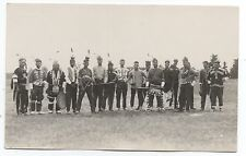 1920s RPPC Postcard of numerous Native Americans in Native Clothing