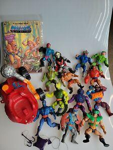 Lot of 13 Vintage He-Man Figures Lot Motu Masters of the Universe Mattel vehicle
