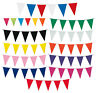 10m Pennant Flag Bunting Banner Party Supplies Decoration Choose Colour