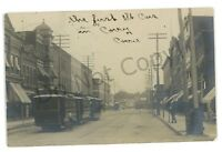 RPPC Trolleys First Streetcars in CORRY PA Erie County Real Photo Postcard