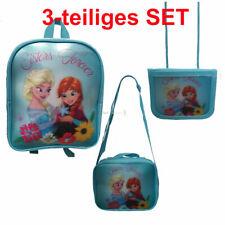Taschen Set Frozen Eiskönigin Rucksack Umhängetasche Geldbeutel Kindergarten NEU