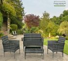 4 Seater Garden Sofa Furniture Set Outdoor Patio Conservatory Chairs Table 4 Pc