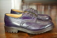 NEW | TRICKERS UK 8 US 9 D DERBY BOURTON IRIS PURPLE SHELL CORDOVAN WING TIP