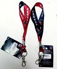 "Houston Texans 1""Key Strap (NEW) Key Chain Keychain ID NFL Lanyard"