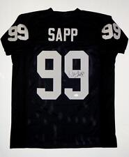 Warren Sapp Autographed Black Pro Style Jersey- JSA Witnessed Auth