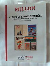 HERGE TINTIN CATALOGUE BD MILLON ALBUMS DE BANDES DESSINEES 8 DECEMBRE 2013 TBE