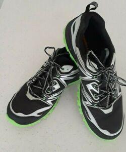 Merrell Mens Sz 14 Capra Bolt Waterproof Hiking Trail Shoes Black/Green J35383