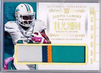 JARVIS LANDRY - 2014 National Treasures TimeLine 4 Color GU Jumbo Patch 30/50 RC