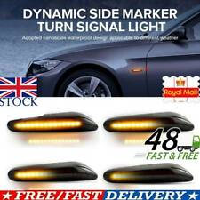 2X LED Dynamic Smoked Side Indicator Turn Signal Fit for BMW E90 E92 E60 E87 E82