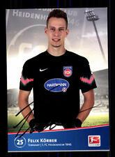 Felix Körber Autogrammkarte 1 FC Heidenheim 2014-15 Original Signiert+A 163456