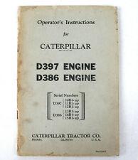 Vtg Caterpillar Operator's Instructions - D397 Engines & D386 Engines - XLNT!!!