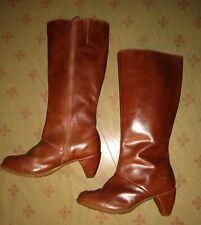 Dr. Martens Vanna Brown Calf Length Boot US Size 6 UK 4 EU 37