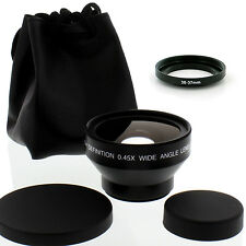 High Def 30mm Wide Angle Lens with Macro for Sony HDR-SR10,UX1DCR-SR42,SR62
